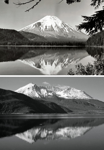 Mt St Helen's Before And After
